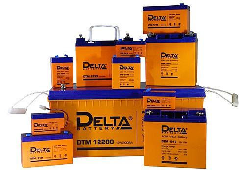Аккумуляторы Delta размеры